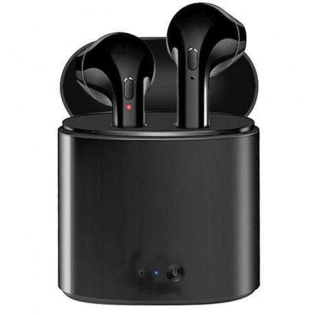 Casti Audio Wireless cu Bluetooth i7S Negru Tip in-ear pentru IOS si Android
