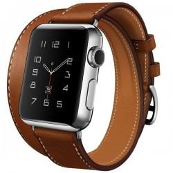 Curea pentru Apple Watch 40mm piele iUni Double Tour Maro