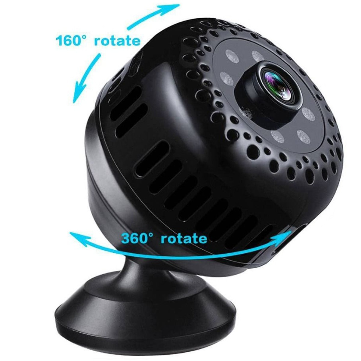 Mini Camera Spion iUni IP41, Wireless, Full HD 1080p, Audio-Video, Night Vision