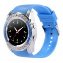 Ceas Smartwatch V8 Albastru HandsFree Bluetooth 3.0 M