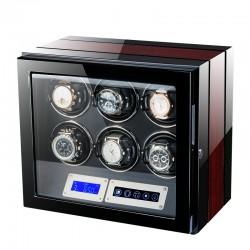 Cutie pentru intors ceasuri automatice iUni Luxury Watch Winder 6, Rosu