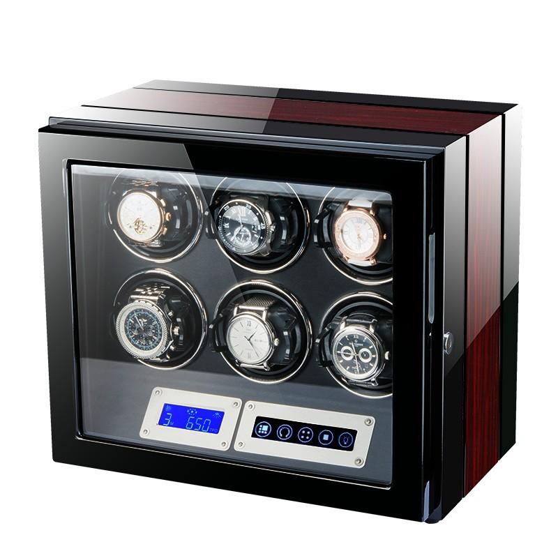Cutie pentru intors ceasuri automatice iUni Luxury Watch Winder 6, Rosu imagine techstar.ro 2021