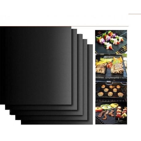 Set 3 Folii antiaderente din teflon pentru gratar, BBQ Grill Matt + O Folie gratis