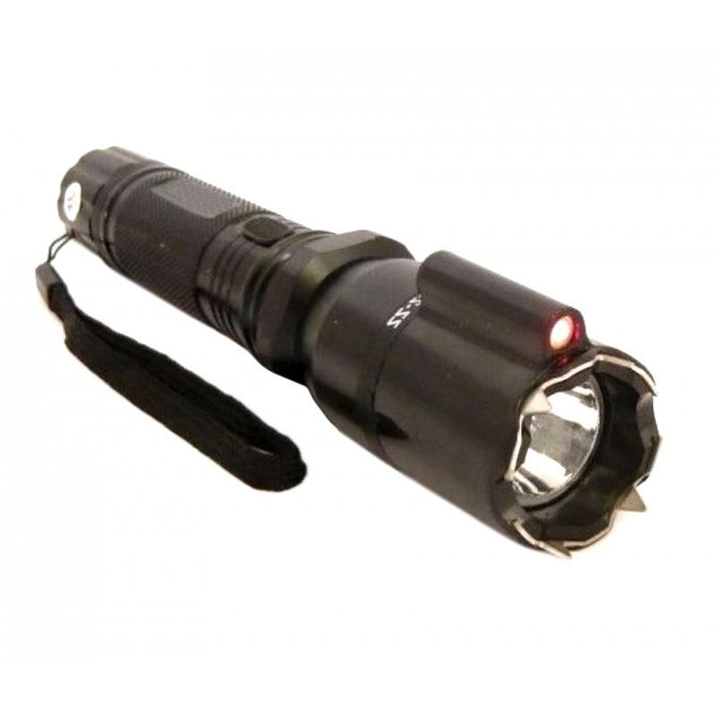 Lanterna de Protectie cu Electrosoc 9000kw si Laser Rosu 800 metri distanta