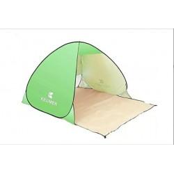 Cort Pentru Plaja Verde Deschis Anti-UV Tip Pop-up cu Deschidere in Spate Pentru 2 Persoane Marime 200x120x130cm