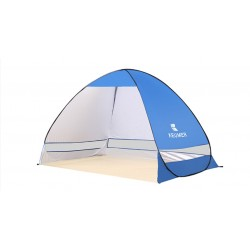 Cort Pentru Plaja Albastru Inchis Anti-UV Tip Pop-up pentru 2 Persoane Marime 200x120x130cm
