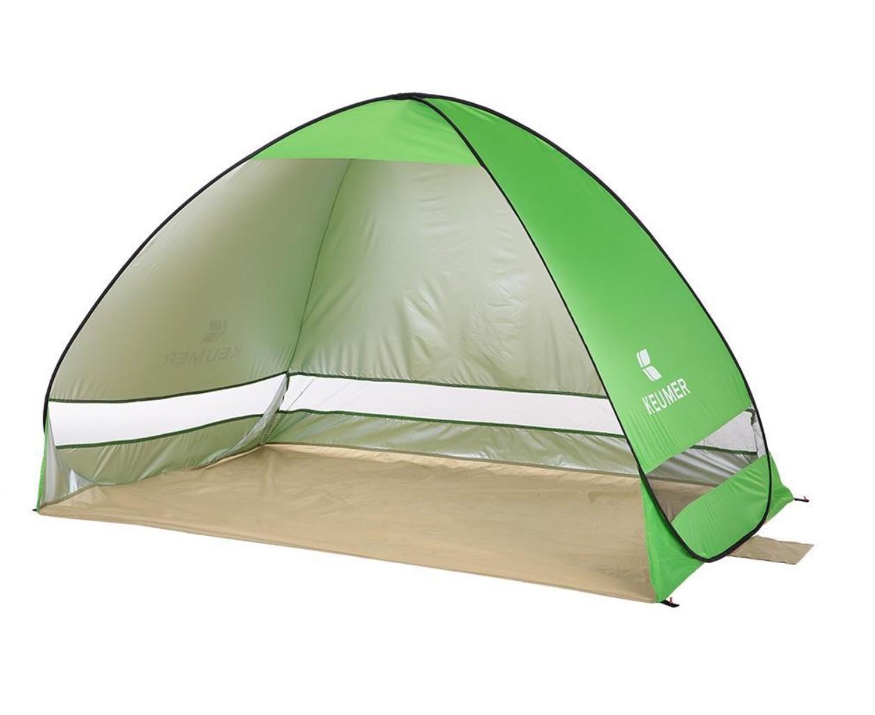Cort Pentru Plaja Verde Deschis Anti-UV Tip Pop-up pentru 2 Persoane Marime 200x120x130cm imagine techstar.ro 2021