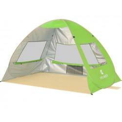 Cort Pentru Plaja Verde Anti-UV Tip Pop-up cu Ferestre pentru 2 Persoane Marime 200x135x130cm