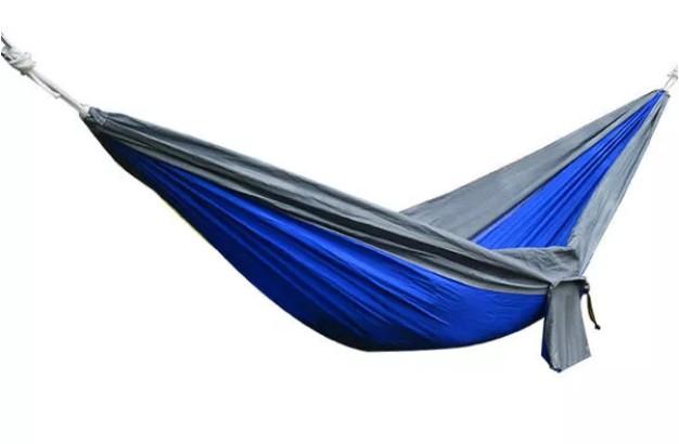 Hamac Albastru Tip Parasuta 210T Nylon Portabil si Compact cu Accesorii Incluse Marime 260 x 140cm Greutate Suportata 250kg imagine techstar.ro 2021