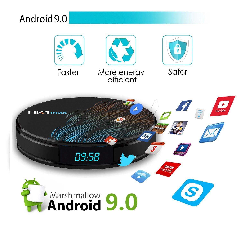 Media Player HK1 MAX Android 9.0, Smart TV Box 4K, 2gb/16gb, Wifi, limba Romana, Netflix subtitrare in romana imagine techstar.ro 2021