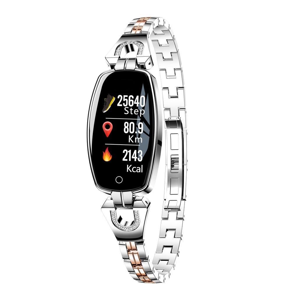 Bratara Smart Fitness Sport Argintie Waterproof si Eleganta pentru Dama H8 cu Monitorizare Somn si Cardiaca imagine techstar.ro 2021