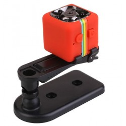Camera Video Sport Mini-Micro Techstar® SQ11 Rosie cu Suport pt Auto SQ11 cu Nightvision si 12Mpx
