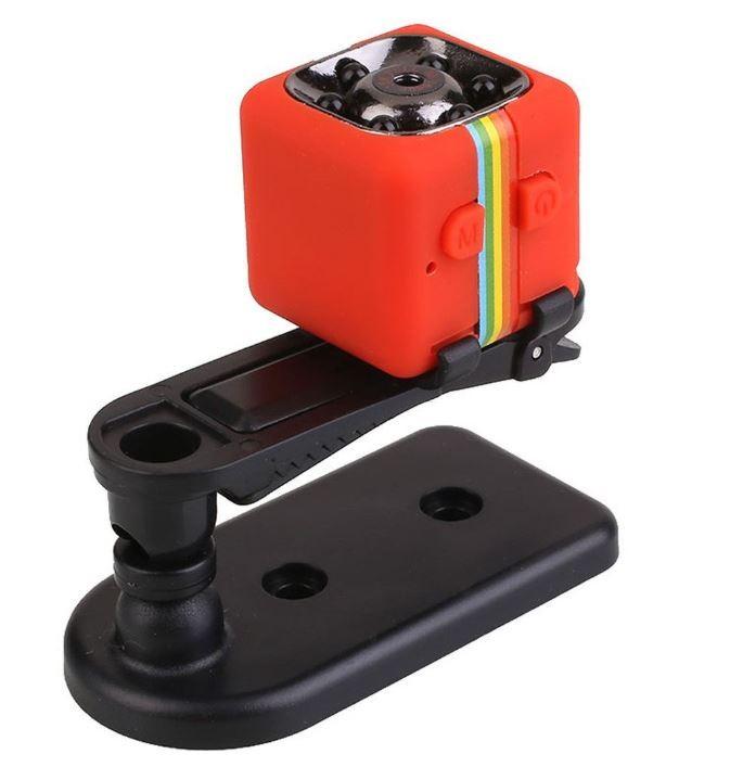 Camera Video Sport Mini-Micro Techstar® SQ11 Rosie cu Suport pt Auto SQ11 cu Nightvision si 12Mpx imagine techstar.ro 2021