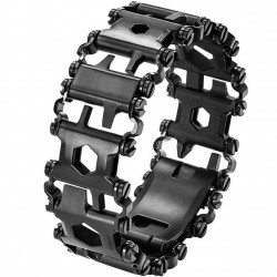 Curea ceas multifunctionala 29 in 1 Apple Watch Black iUni 44mm Otel Inoxidabil