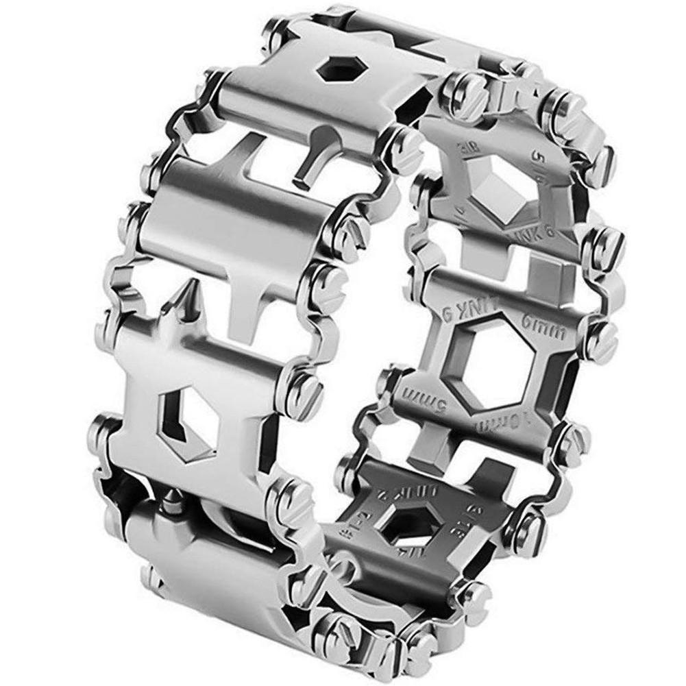 Curea ceas multifunctionala 29 in 1 Apple Watch Silver iUni 42mm Otel Inoxidabil