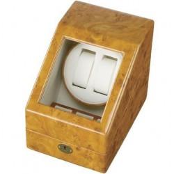 Cutie pentru intors ceasuri automatice iUni Watch Winder 2 + 3 spatii depozitare, Gold