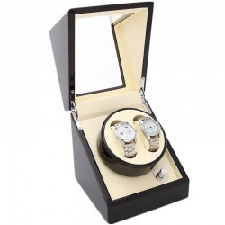 Cutie pentru intors ceasuri automatice iUni Watch Winder 2, Mahon-Crem