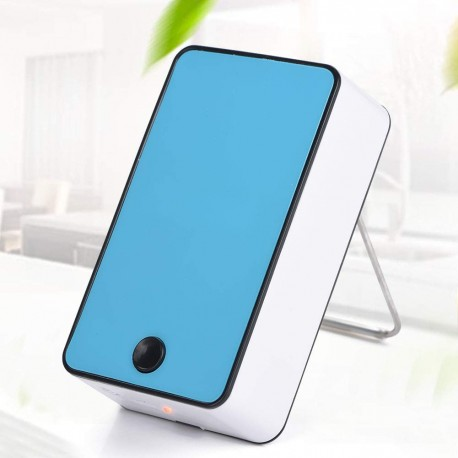 Mini ventilator portabil USB umidificator cu cllimatizare 20 W Bleu