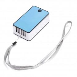 Mini Ventilator Portabil Incarcare USB, Umidificator cu Climatizare 20 W Bleu