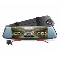 "Camera Video Auto Dubla tip Oglinda L809 DVR Techstar® 7"" FullHD 1080P, DualLens Touchscreen"