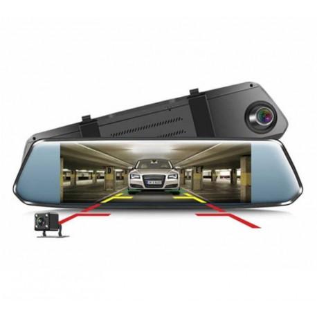 "Camera Video Auto tip Oglinda DVR Techstar® 7"" FullHD 1080P, DualLens cu Marsarier si Touchscreen"