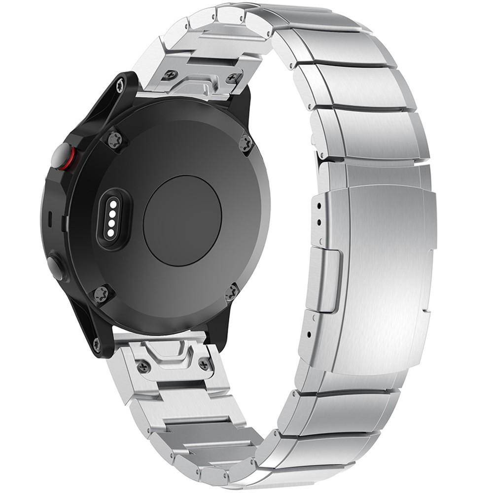 Curea ceas Smartwatch Garmin Fenix 5, 22 mm Otel inoxidabil iUni Silver Link Bracelet imagine techstar.ro 2021