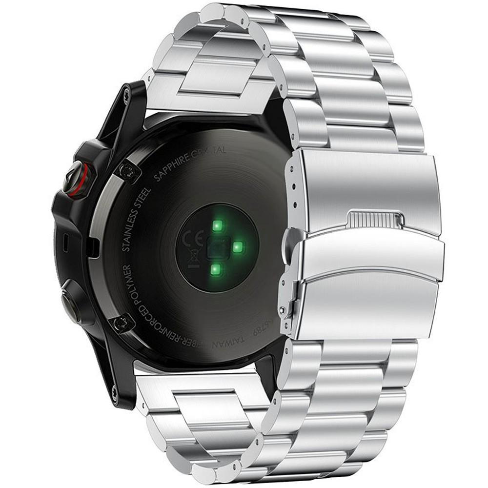 Curea ceas Smartwatch Garmin Fenix 3, 26 mm Otel inoxidabil iUni Silver