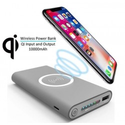 Baterie Externa, Power Bank, 10.000 mah, wireless, Li-Polymer, rohs