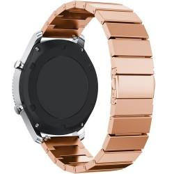 Curea pentru Smartwatch Samsung Gear S2, iUni 20 mm Otel Inoxidabil Rose Gold Link Bracelet