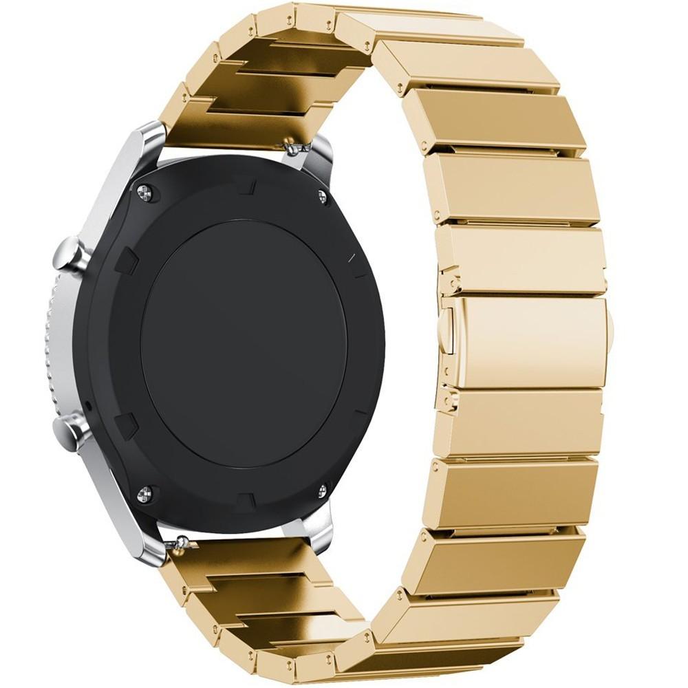 Curea pentru Smartwatch Samsung Gear S2, iUni 20 mm Otel Inoxidabil Gold Link Bracelet