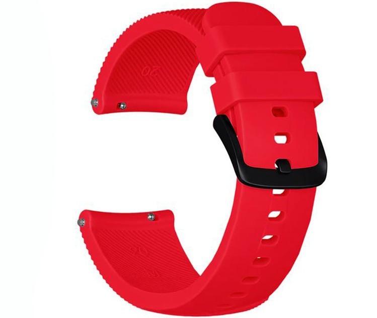 Curea ceas Smartwatch Samsung Gear S2, iUni 20 mm Silicon Red