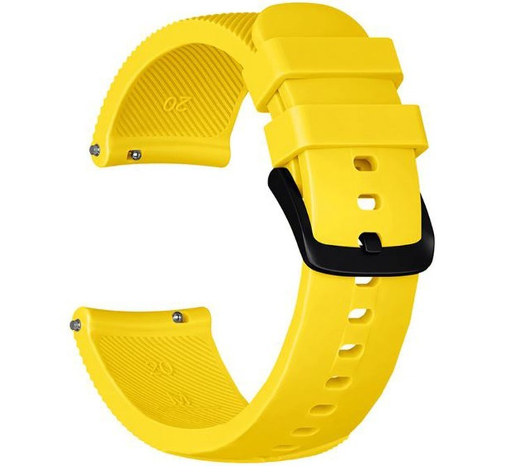 Curea ceas Smartwatch Samsung Gear S2, iUni 20 mm Silicon Yellow