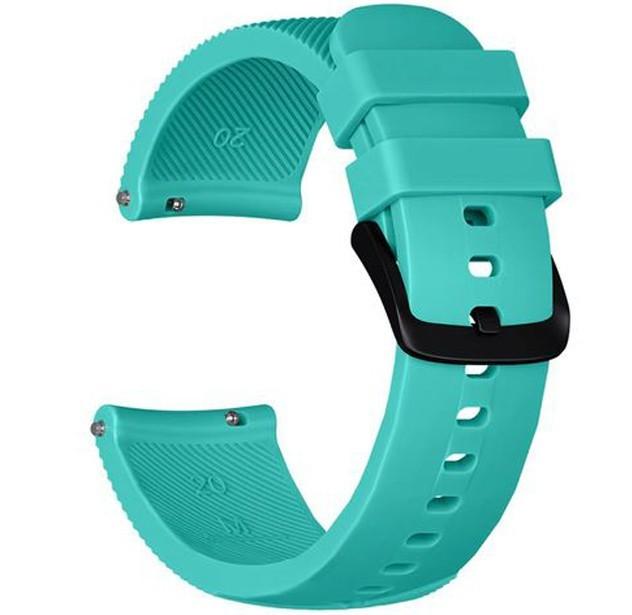 Curea ceas Smartwatch Samsung Gear S3, iUni 22 mm Silicon Light Blue imagine techstar.ro 2021