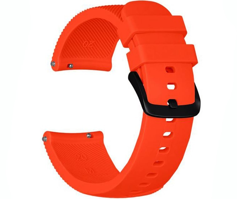 Curea ceas Smartwatch Samsung Gear S2, iUni 20 mm Silicon Orange