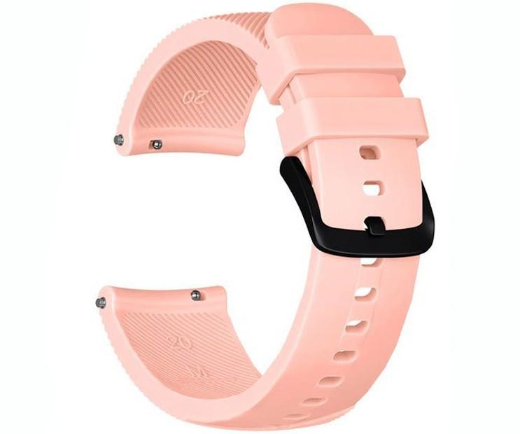 Curea ceas Smartwatch Samsung Gear S2, iUni 20 mm Silicon Soft Pink