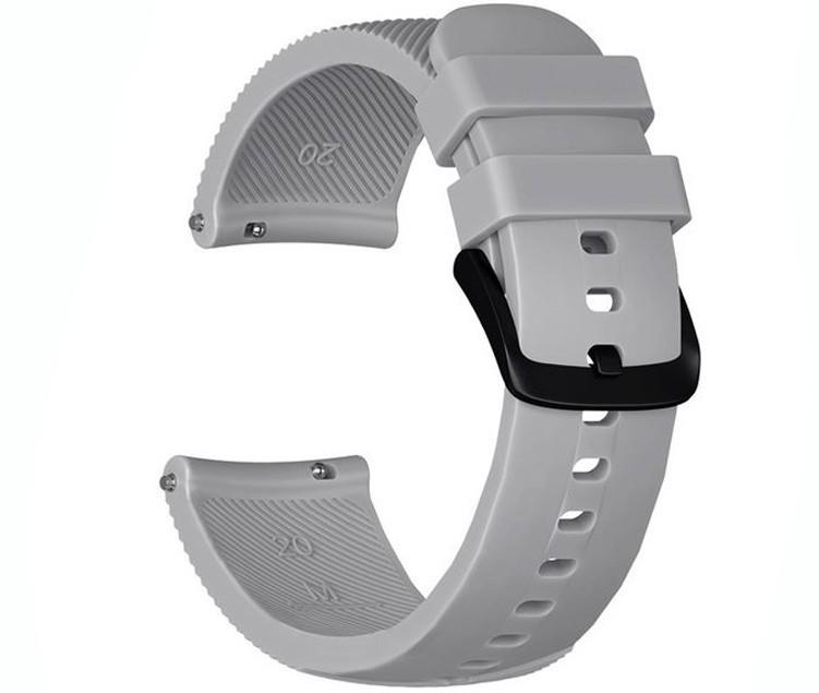 Curea ceas Smartwatch Samsung Gear S2, iUni 20 mm Silicon Grey