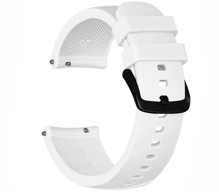 Curea ceas Smartwatch Samsung Gear S2, iUni 20 mm Silicon White imagine techstar.ro 2021