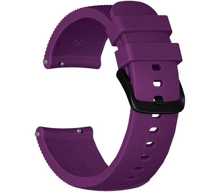 Curea ceas Smartwatch Samsung Gear S3, iUni 22 mm Silicon Purple
