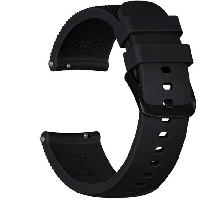 Curea ceas Smartwatch Samsung Gear S3, iUni 22 mm Silicon Black imagine techstar.ro 2021