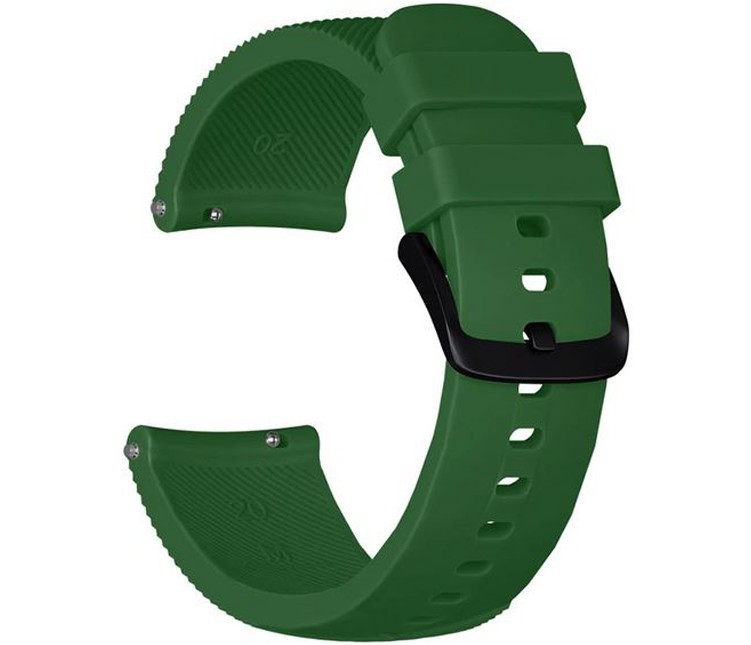 Curea ceas Smartwatch Samsung Gear S3, iUni 22 mm Silicon Green imagine techstar.ro 2021