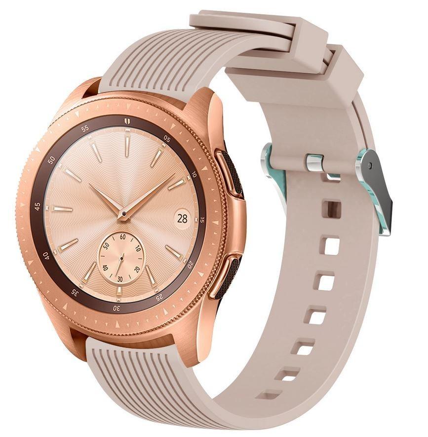 Curea ceas Smartwatch Samsung Gear S2, iUni 20 mm Silicon Sport Soft Pink