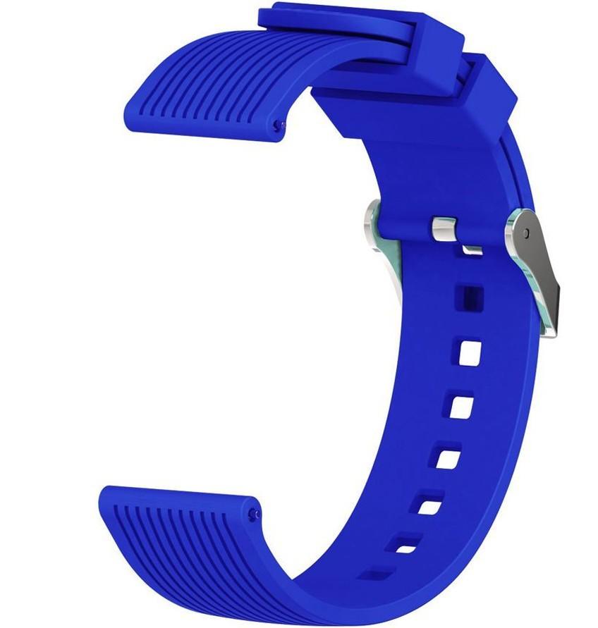 Curea ceas Smartwatch Samsung Gear S2, iUni 20 mm Silicon Sport Blue