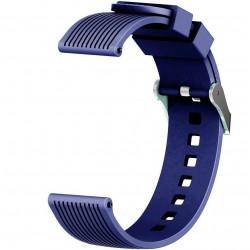 Curea ceas Smartwatch Samsung Gear S2, iUni 20 mm Silicon Sport Dark Blue