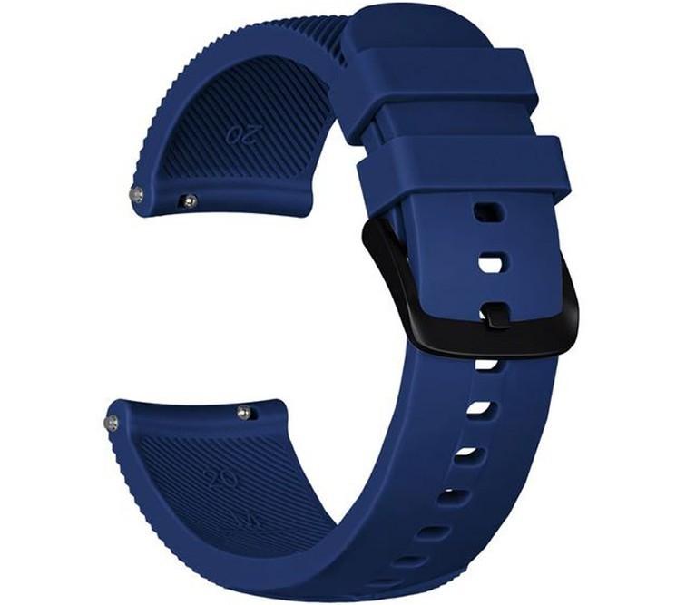 Curea ceas Smartwatch Samsung Gear S3, iUni 22 mm Silicon Midnight Blue