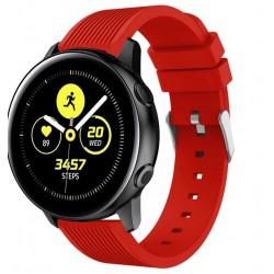 Curea ceas Smartwatch Samsung Gear S2, iUni 20 mm Silicon Sport Red