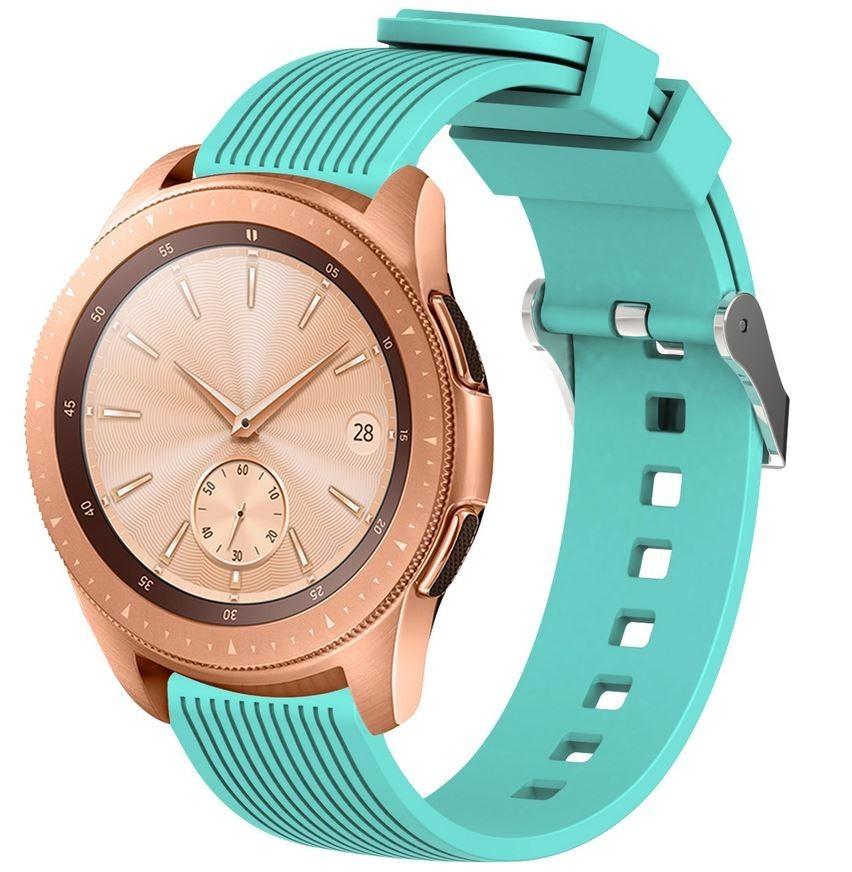 Curea ceas Smartwatch Samsung Gear S2, iUni 20 mm Silicon Sport Light Blue