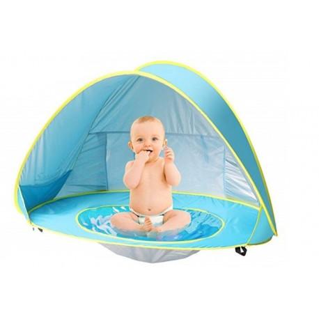Cort plaja pentru copii cu mini piscina, protectie solara UV50+, Pop Up,
