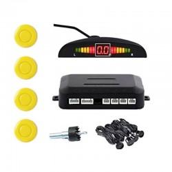 Set Senzori Parcare Auto Detector Parktronic Display Radar Monitor 4 Senzori Galben