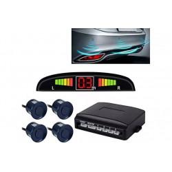 Set Senzori Parcare Auto Detector Parktronic Display Radar Monitor 4 Senzori Albastru Inchis