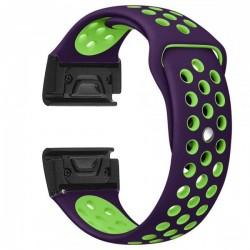 Curea ceas Smartwatch Garmin Fenix 5, 22 mm iUni Silicon Sport Mov-Verde